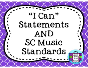 SC Music Standards and I Can Statements - Chevron