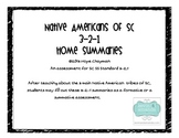 SC Native American 3-2-1 Summaries