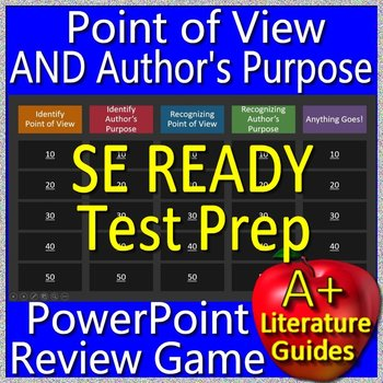 SC READY Test Prep Point of View AND Author's Purpose Game for ELA Grades 5 - 8