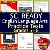 SC READY Test Prep Practice Tests Bundle for English Language Arts Grades 6 - 8