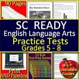 SC READY Test Prep Practice Tests Bundle for English Language Arts Grades 5 - 8