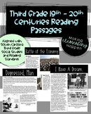 SC Ready Social Studies Reading Passages - 19th and 20th C