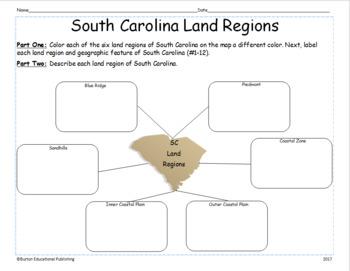 SC Regions Map Activity