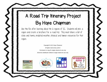 SC Road Trip Itinerary Project