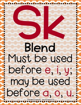 Word Work: S BLENDS - SC-SK