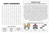 SC - Silent C with S activity sheet