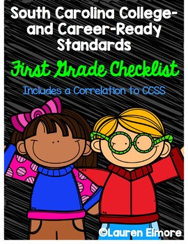 SC Standards Mastery Checklist and CCSS Correlation for First Grade