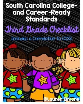SC Standards Mastery Checklist and CCSS Correlation for Third Grade