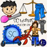 SC words Clip Art