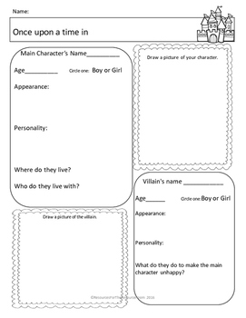 Fairy Tale Writing for 2nd Grade SCAFFOLDED