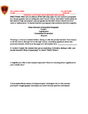 SCAFFOLDED LESSON: Packet to Scaffold Writing a Literary Analysis Body Paragraph
