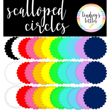 SCALLOPED CIRCLE ACCENT CLIP ART