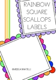 SCALLOPS SQUARE LABELS