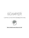 SCAMPER Creative Thinking & Problem Solving Packet