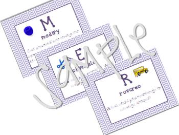 SCAMPER Posters - purple chevron