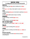 SCAMPER Skills Cloze Page Answer Key