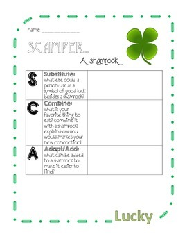 SCAMPER St. Patrick's Day - Shamrock, Pot of Gold & Hat