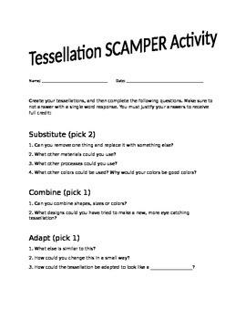 SCAMPER Tessellation Activity
