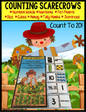 SCARECROWS Counting Up To 20 with Data and IEP Goals - Special Education/Autism