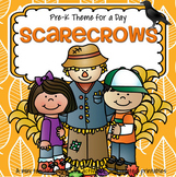 SCARECROWS Theme Unit for Preschool, Pre-K and Kindergarten