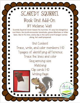 SCAREDY SQUIRREL BOOK UNIT ADD ON