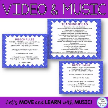 Creative Movement: Scarf and Ribbon Directional Shapes, Numbers Video Activity