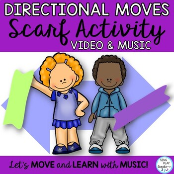Scarf and Ribbon Video with Math Directional, Shape and Nu