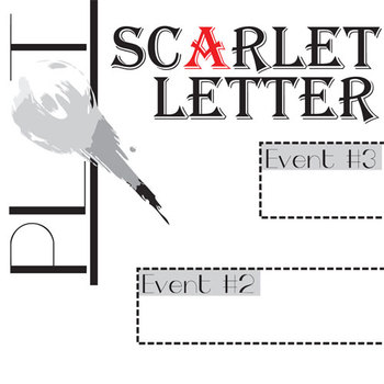 SCARLET LETTER Plot Chart Organizer Diagram Arc (Hawthorne) - Freytag's Pyramid