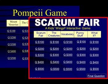 SCARUM FAIR (Poetry), with Nonfiction MUMMIES and POMPEII! Chills and Thrills!