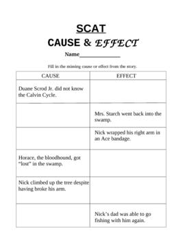SCAT by Carl Hiaasen: Cause & Effect
