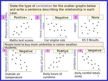 SCATTER GRAPHS, LINE GRAPHS AND STEM & LEAF DIAGRAMS