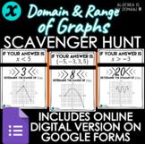 SCAVENGER HUNT ACTIVITY - Domain & Range of Graphs - DISTA