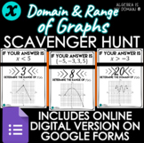 SCAVENGER HUNT ACTIVITY - Domain & Range of Graphs - DISTA