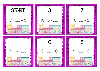 SCAVENGER HUNT - Simple Addition and Subtraction - Rainbow Facts and Doubles