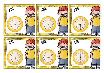 SCAVENGER HUNT - Time: O'Clock and Half Hour Digital and Analogue