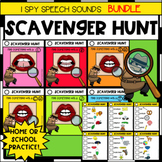 SCAVENGER HUNT SPEECH SOUNDS BUNDLE ARTICULATION THERAPY