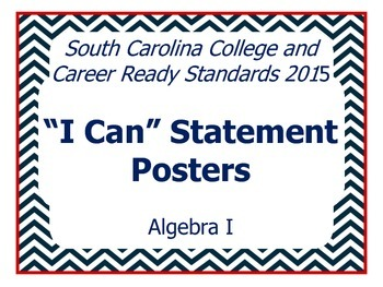 "SCCCR Algebra I ""I Can"" Posters"