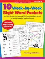 10 Week-by-Week Sight Word Packets
