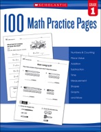 100 Math Practice Pages: Grade 1