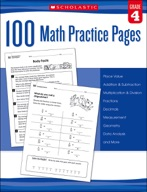 100 Math Practice Pages: Grade 4 (Enhanced Ebook)