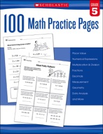 100 Math Practice Pages: Grade 5 (Enhanced Ebook)