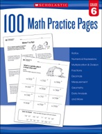 100 Math Practice Pages: Grade 6 (Enhanced Ebook)