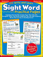 100 Write-and-Learn Sight Word Practice Pages (Enhanced eBook)