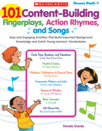 101 Content-Building Fingerplays, Action Rhymes, and Songs (Enhanced eBook)