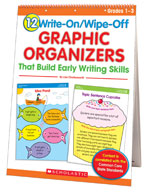 12 Write-On/Wipe-Off Graphic Organizers That Build Early Writing Skills (Flip Chart) (Enhanced eBook)