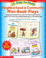 15 Easy-to-Read Neighborhood & Community Mini-Book Plays (Enhanced eBook)