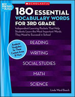 180 Essential Vocabulary Words for 3rd Grade