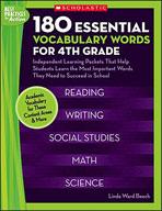 180 Essential Vocabulary Words for 4th Grade (Enhanced eBook)