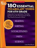 180 Essential Vocabulary Words for 6th Grade (Enhanced eBook)