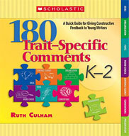 180 Trait-Specific Comments: Grades K-2 (Enhanced eBook)